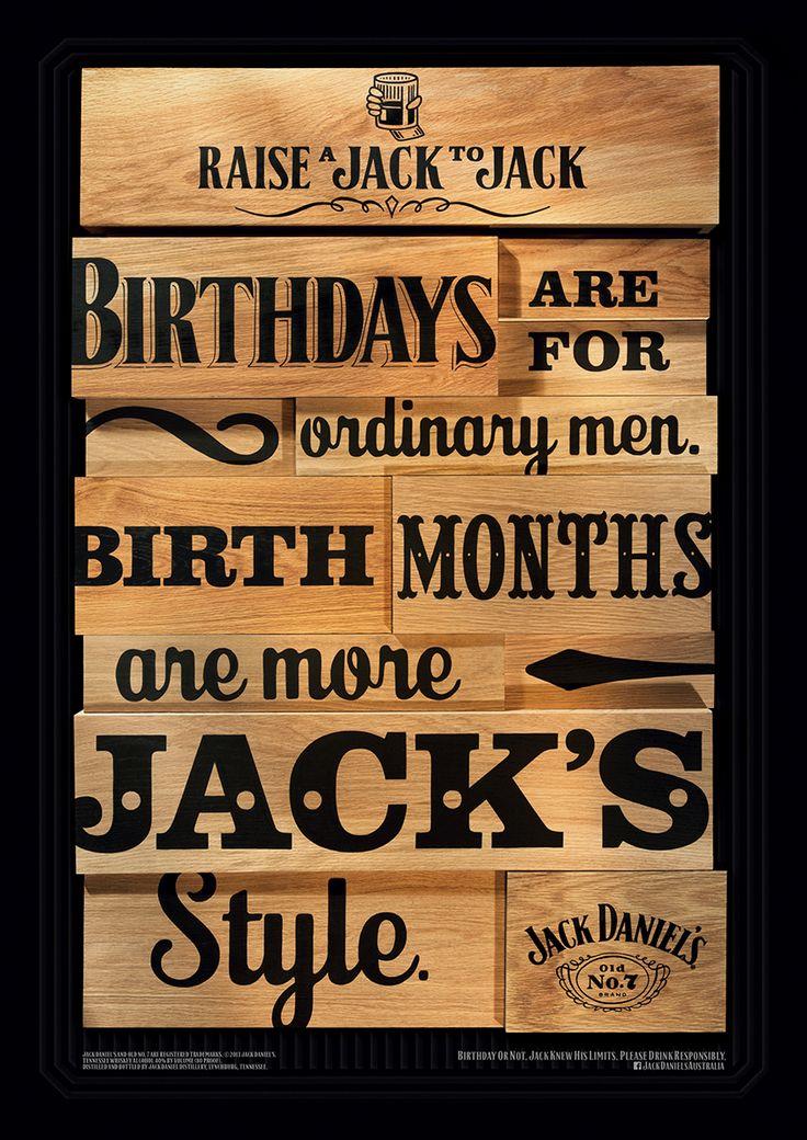 Pôsteres tipográficos propõem um brinde a Jack