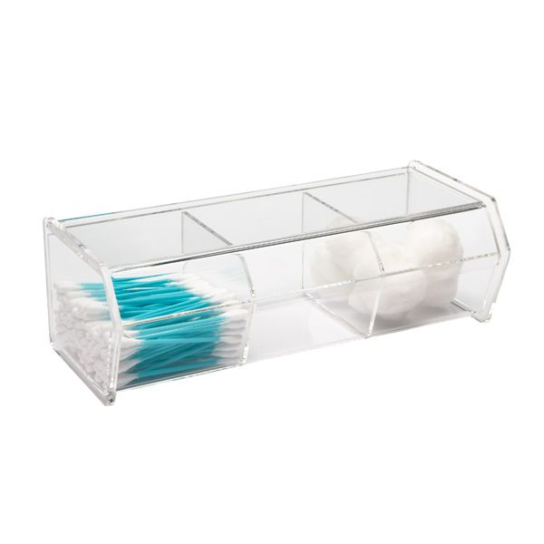 3 Section Acrylic Hinged Lid Box