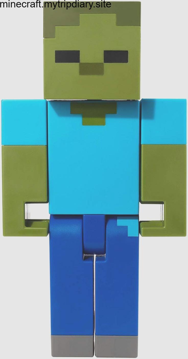 Amazon.com: Minecraft Zombie Large Scale Action Figure: Toys