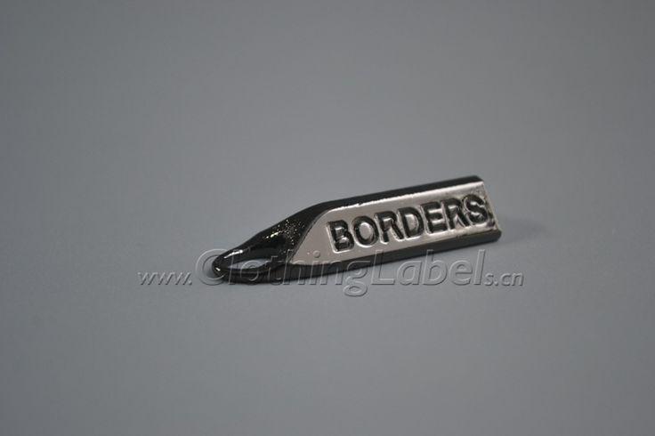 metal label,zinc alloy,logo engraved,black nickle color