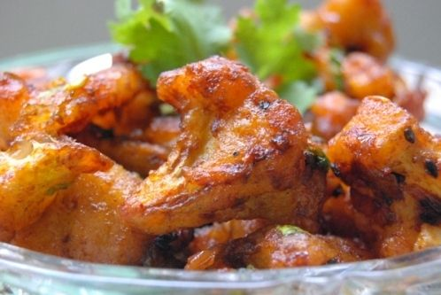 Dying to try this vegan cauliflower Indian dish! Looks like it would be amazing over a bed of basmati rice!