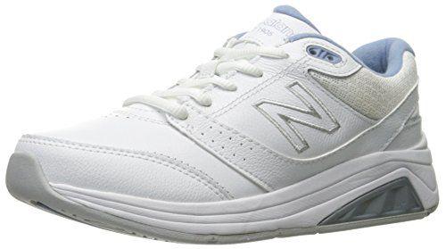 New Balance Women's 928v3 Walking Shoe, White/Blue, 8 B U...