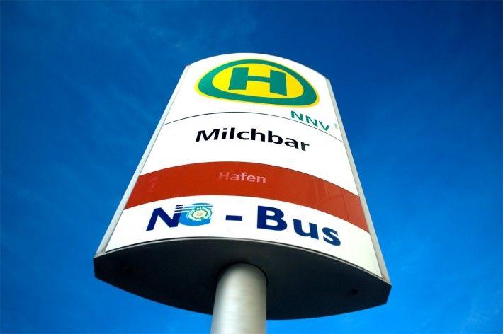 Milchbar - Bushaltestelle auf Norderney