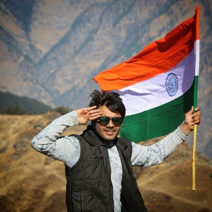 Indian Flag Boy With Flag Tiranga