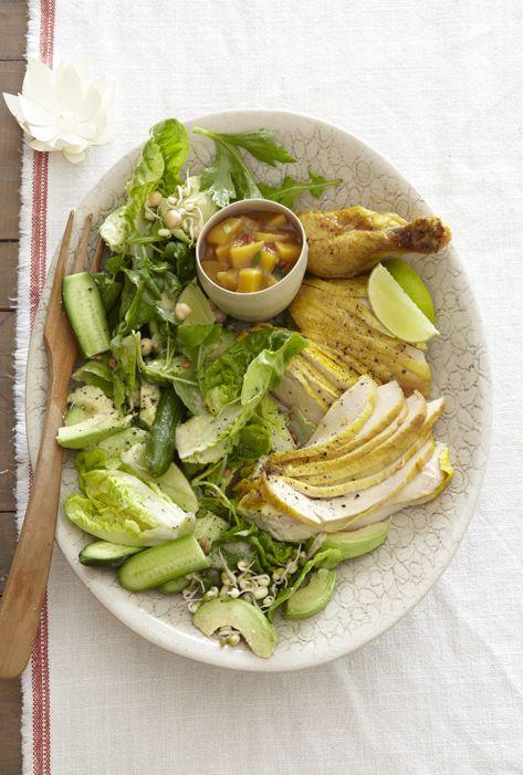 Chicken with mango-chilli chutney