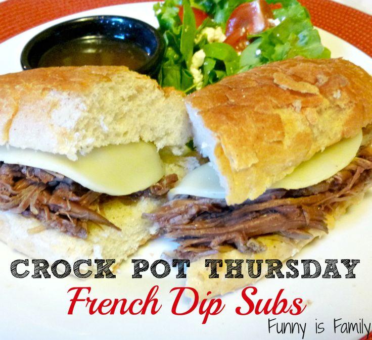 Crock Pot Thursday: French Dip Subs