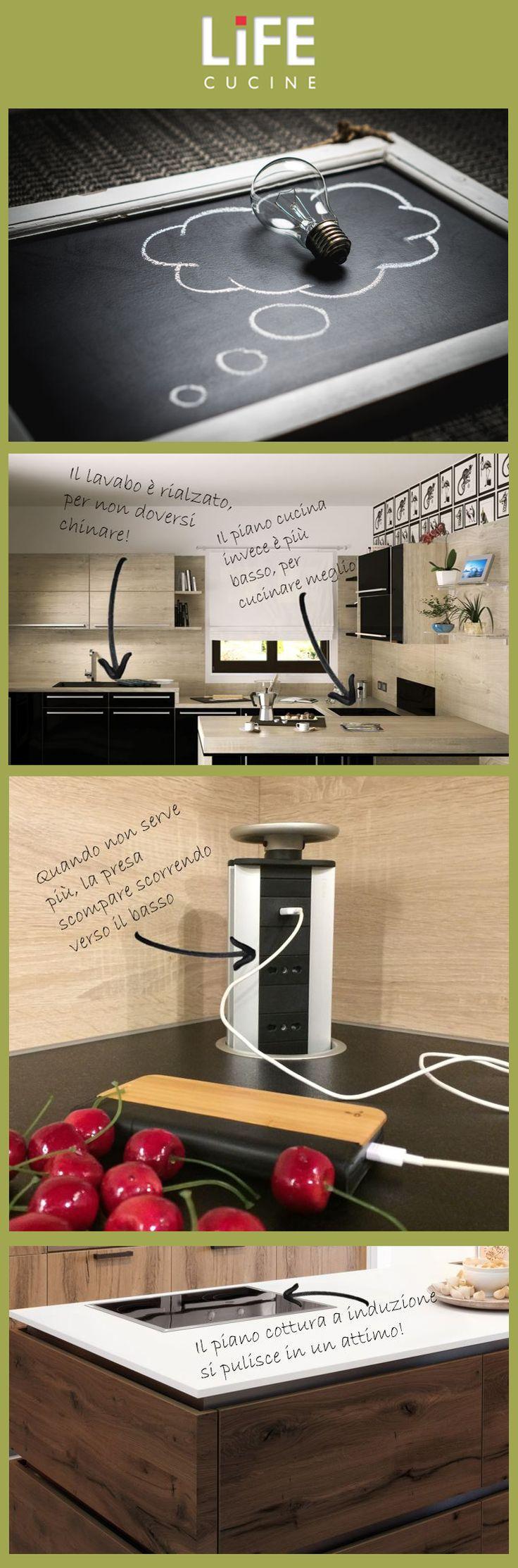 Scegliere l'arredamento: 5 idee per una cucina comoda e ordinata. Scopri tutti i nostri suggerimenti sul sito www.lifecucine.com
