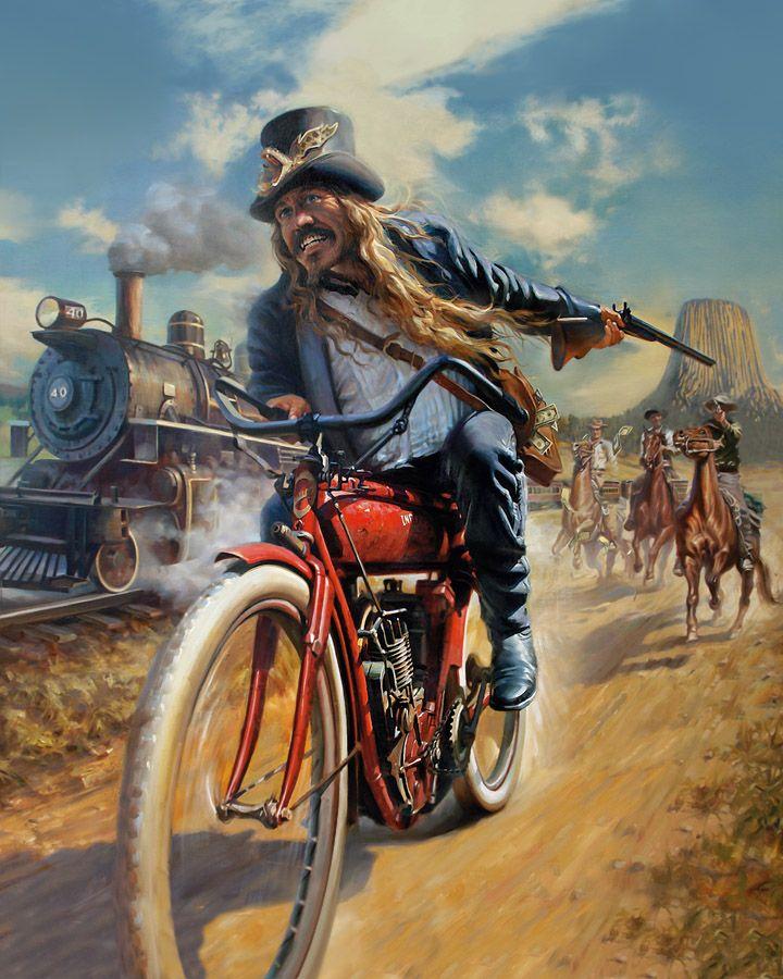 Hatchet Girl Wallpaper The Ironhorse Heist By David Uhl By Caveman1a On