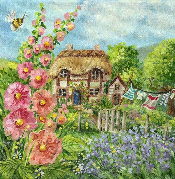 39 bumble hum cottage 39 by judith yates vintage pictures for Garden design yates
