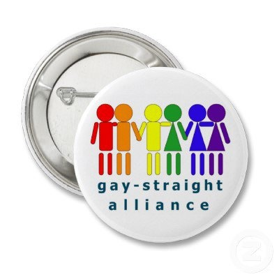 Gay Straight Alliance Button from Zazzle.com