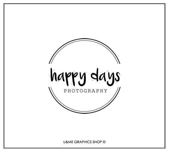 Premade Logo Designs Cape town - U&Me Graphics Shop | Round premade photography logo | vintage premade photography logo design