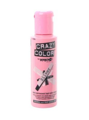 Crazy Color Silver Semi-Permanent Hair Dye