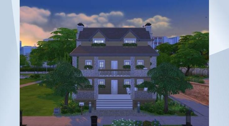 Tsekkaa tämä tontti The Sims 4 Galleriassa! - This lot is traditional house for 5 sim family. There are 3 kids or teen bedroom and 1 master with ensuite bathroom. Downstairs has a large kitchen / diningroom and livingroom. 2nd floor has study and computer on level 3. I hope you like this build!No Custom Content!                                                               #traditional #furnished #house #residential #whatasimhouse #stone #wood #smalllot #newcrest #20x15