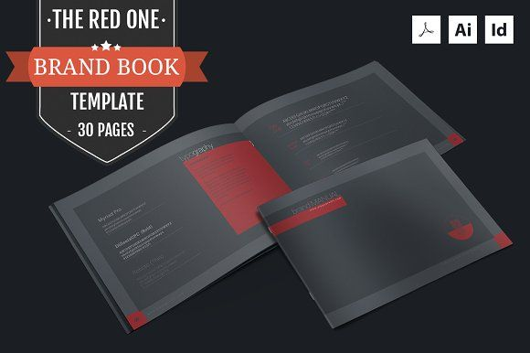 The Red One – Brand Manual Template by ZippyPixels on @creativemarket