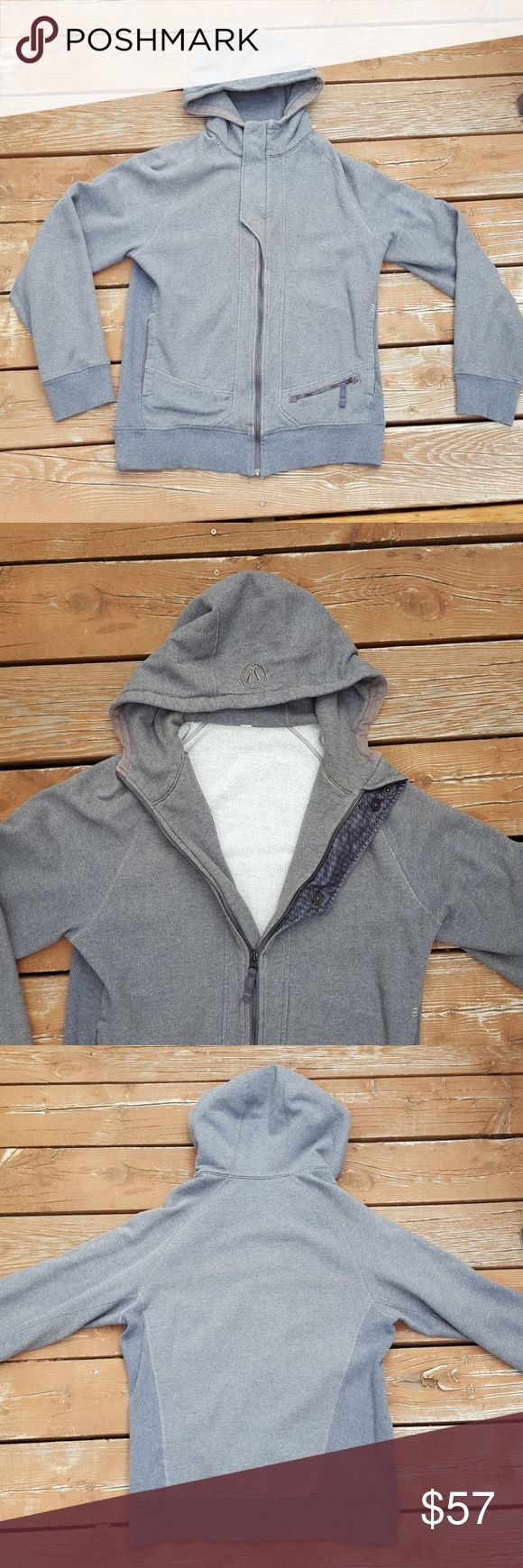 Lululemon Gray Zip Up Hoodie Lululemon  Men's Gray Zip Up Hoodie  Size M  3 Front Pockets Fair Condition lululemon athletica Sweaters Zip Up
