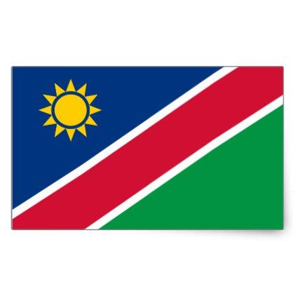 #Namibia Flag Sticker - #african #safari #gifts #beautiful #africa