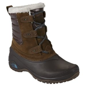 The North Face Shellista II Shorty Insulated Waterproof Pac Boots for Ladies - Dark Earth - 8.5 M