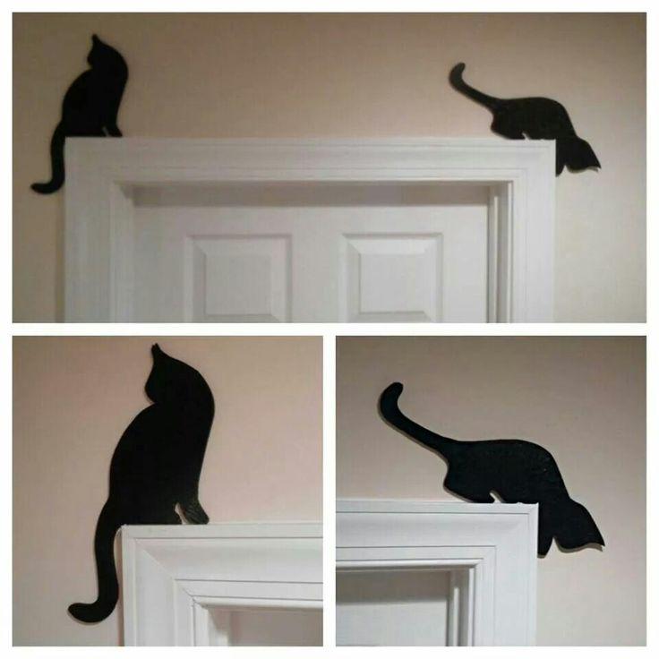 Cat door or window trim toppers