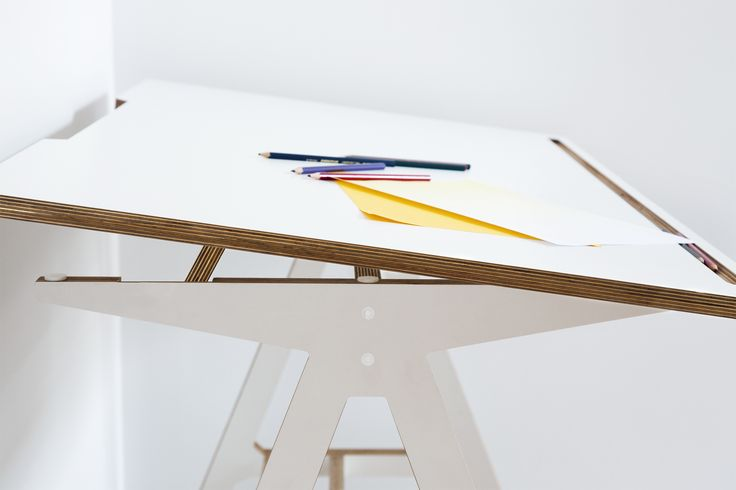The A Desk with a tilting worktop - http://www.cimmermann.uk/shop-by-brand/byalex.html