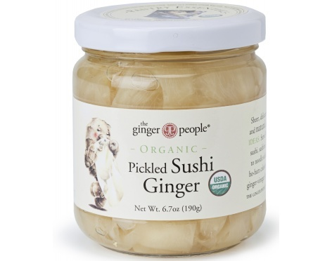 Love pickled ginger.....it even cured me of onset of viral infection ( super high fever and 'hot' throat), by eating 1/3 of a jar and drinking hot tea and going to bed....in the morning I was nearly 100%, with no set back!    Gluten Free.  All Natural.  USDA Organic.    One ounce contains 20 calories, 0g fat, 5g carbs.    4 pack / 6.7oz per jar