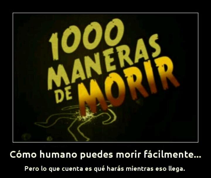 1000 maneras de morir, ya, INFINITO: #ve #Directv 748 - #ccs #Inter 15 / #SuperCable 84 / #netuno NA XD #wtf