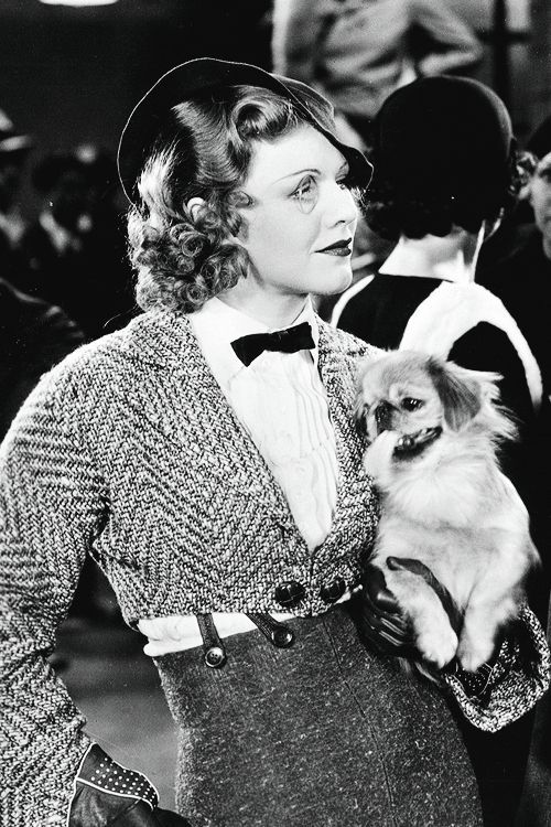 "gingerrogerss: Ginger Rogers as Ann ""Anytime Annie"" Lowell in 42nd Street (1933) Wearing a monocle was her own idea…."