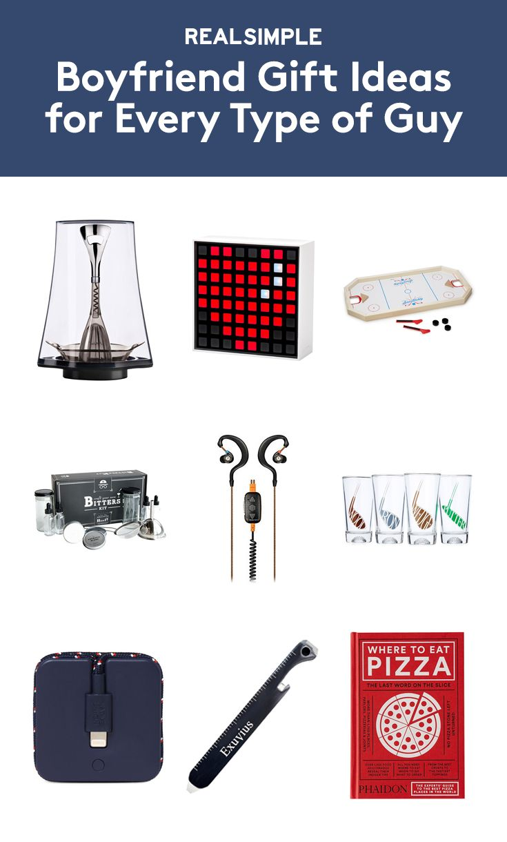 Boyfriend Gift Ideas for Every Type of Guy | Here you'll find a list of carefully curated gifts our editors think your boyfriend will find both cool and practical. We might not know him, but we do know that finding the right thing is a lot easier when you consider a multitude of interests and then narrow down on what he loves most.