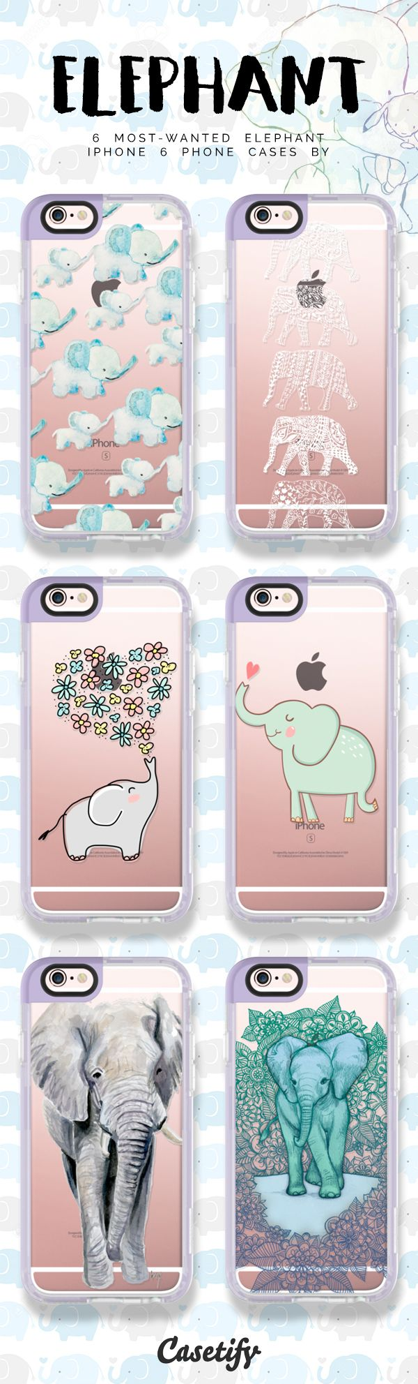 Top 6 elephant iPhone 6 protective phone case designs | Click through to see more iPhone phone case designs >>> https://www.casetify.com/artworks/5yah4WieDK #animal | @casetify