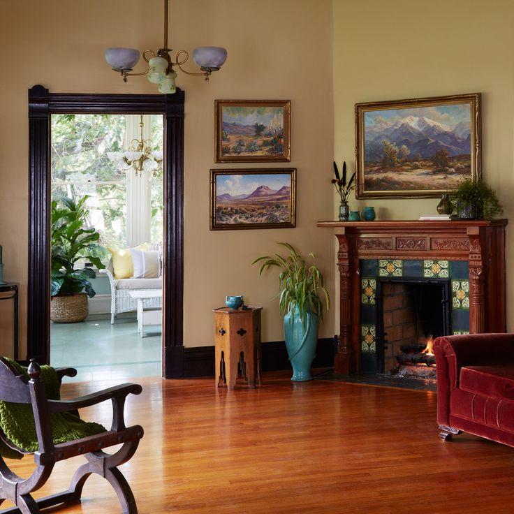 Finding Paint Colors In Our Home: Dunn-Edwards Paints Paint Colors: Walls: With The Grain DET668; Trim: Black Walnut DE6063
