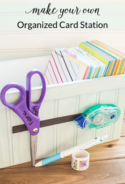 Make an organized card station to keep track of all of your Hallmark greeting cards so you can send smiles to family and friends for any occasion! #ad #sendsmiles