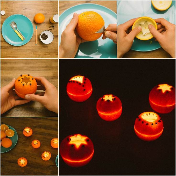 Creative Ideas - DIY Cute Orange Rind Lanterns