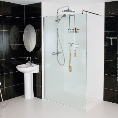 --- Our Sculptures Corner Panel is pure and simple like glass itself and is ideal for a true luxury wetroom shower installation. --- Available from Roman Ltd - British Made Luxury Shower Enclosures and Bath Screens. Images Copyright www.roman-showers.com