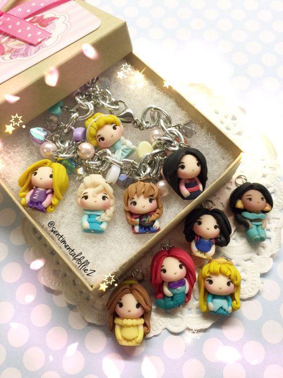 Joyas de princesa de disney pulsera princesa por SentimentalDollieZ