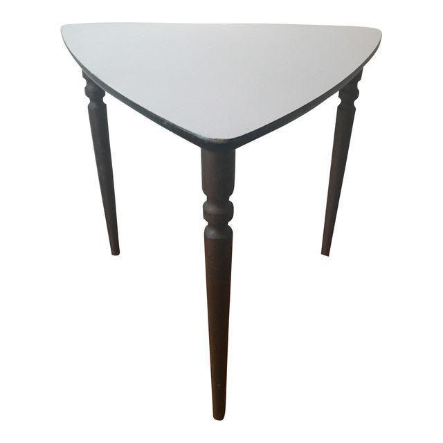 Vintage 3-Legged Wooden Side Table - Image 1 of 7
