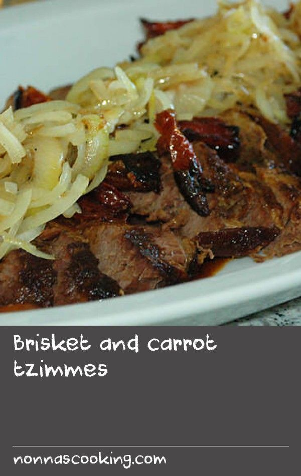 Brisket and carrot tzimmes   This braised brisket recipe is an absolute favourite among my family, friends and clients alike. Its origin comes from a very popular South African food author, Sharon Glass, but has had a few amendments to make it what it is today. It's a great blend of the different palette of Jews of the Diaspora.