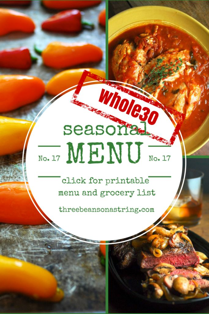 Whole30 Menu Week 5: The Finish Line. Celebrate 30 days of clean eating, or start a second Whole30 with these six delicious meals. Paleo, gluten free.