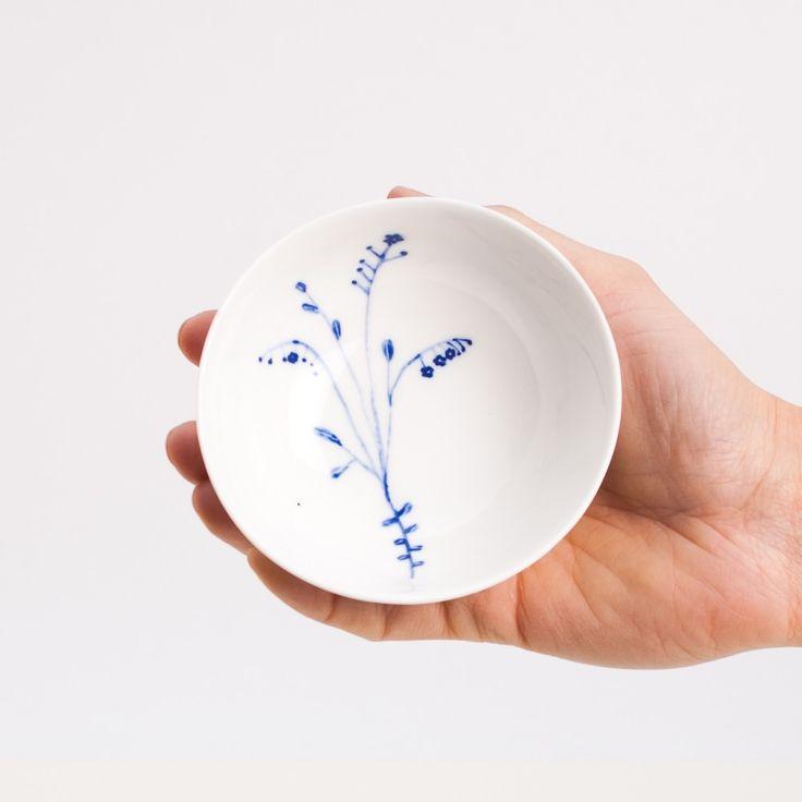 Image of mała miseczka niezapominajka / small bowl forgetmenot