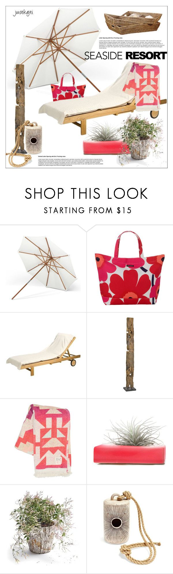 """Seaside Resort"" by justkejti ❤ liked on Polyvore featuring interior, interiors, interior design, home, home decor, interior decorating, Skagerak, Marimekko, Dot & Bo and Billabong"
