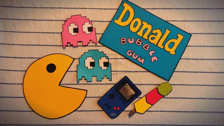 Fotobudka gadżety packman donald bubble gum kaktus gameboy ślub