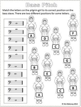 THANKSGIVING Themed Music Worksheets Black & white version This PDF file contains 24 worksheets