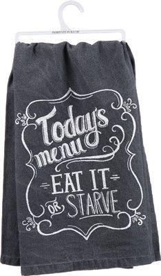 Today's Menu Dish Towel