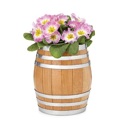 Look what I found at UncommonGoods: reclaimed whiskey barrel planter... for $50 #uncommongoods