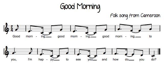 Blog with tons of fun music and lesson ideas!  I see a lot of opening activities potential here  Beth's Music Notes: African Folk songs good morning