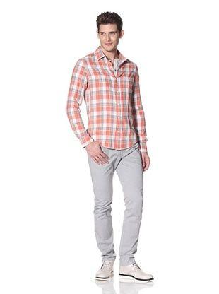 Vince Men's Spring Plaid Woven Shirt