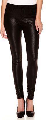 Tinseltown Sapphire Ink Shiny Faux-Leather Ponte Pants - Shop for women's Pants - Black Pants