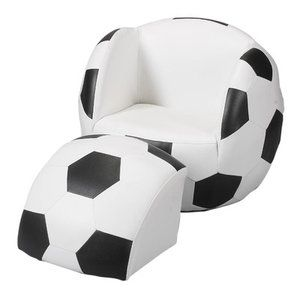 Gift Mark Soccer Ball Kid's Novelty Chair and Ottoman Set