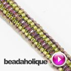 Tutorial - Videos: How To Do Tubular Even Count Peyote Stitch Bead Weaving | Beadaholique