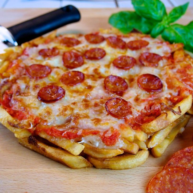 The future is now, and it's full of French fry pizza.