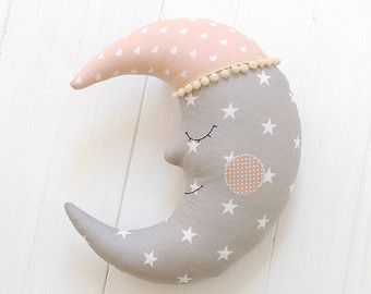 Moon Pillow Moon Cushion Kids Pillow Handmade by ProstoConcept