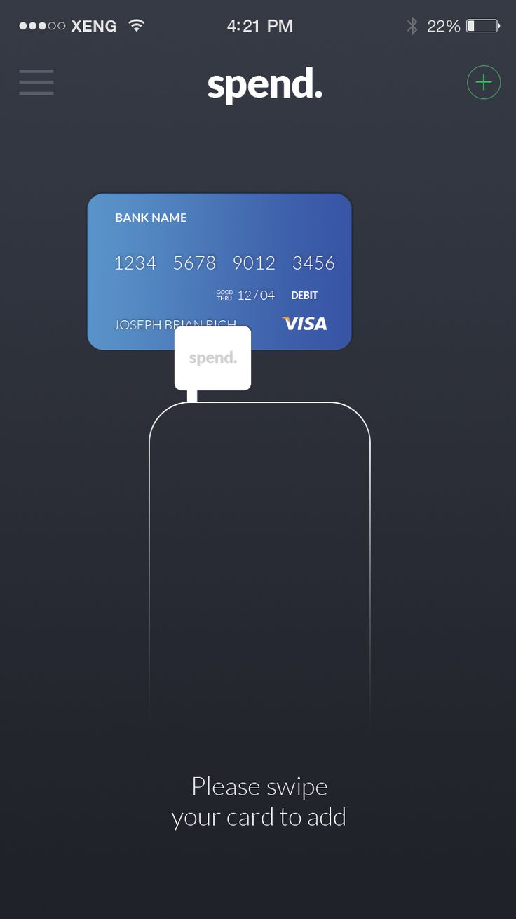 Swipe to add card